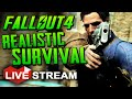 |Fallout 4 Gameplay| Realistic Wasteland Survival CHALLENGE!! Live Stream