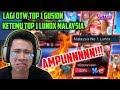OTW TOP 1 GUSION KETEMU MALAYSIA NOMOR 1 LUNOX!! AMPUNNN MAINNYA JAGO BENER!!! - Mobile Legends