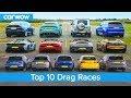Best Drag Races Ever - Lamborghini v Tesla vs AMG v BMW M v Audi RS v McLaren and more!