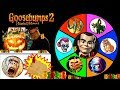 GOOSEBUMPS 2 Haunted Halloween SPINNING WHEEL SLIME GAME w/ Spooky Surprise Toys