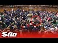 Moment MPs 'snub' the SNP as they walk out of Commons