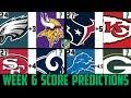 NFL Week 6 Score Predictions 2019 (NFL WEEK 6 PICKS AGAINST THE SPREAD 2019)