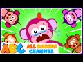 Five Funny Monkeys Jumping On The Bed | Kids Songs | All Babies Channel