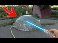 LASER BURNS a GIANT BALLОN ОRBEEZ - EXPERIMENT!