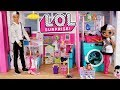 Barbie LOL Family Dollhouse Cleaning  Morning Routine - Titi Toys Dolls