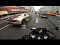 Интенсивный прохват на мотоцикле под музыку 4к || Yamaha r1 & triumph street triple
