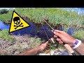 Fishing a TOXIC RIVER For Big Fish -- (Google Maps Fishing Challenge)