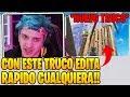Ninja Reacciona Al **NUEVO EDITOR MAS RAPIDO DE FORTNITE** Por Un **NUEVO TRUCO** 😱😱