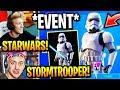 "Streamers React to *NEW* ""FORTNITE X STARWARS"" EVENT + FREE ""STORMTROOPER"" SKIN! (NEW UPDATE)"