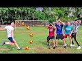 FOOTBALL CHALLENGE Ft. W2S, WillNE, CALFREEZY, ANESONGIB!! WORLD'S MOST AMAZING FOOTBALL PITCHES #3