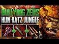 BULLYING ZEUS! Tryhard Hun Batz Jungle Gameplay (SMITE Conquest)
