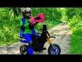 GRANNY vs Den on kids Pocket Bike. Nerf gun game 0+