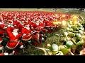 EJERCITO DE SANTA CLAUS VS SOLDADOS DE LA SEGUNDA GUERRA MUNDIAL !! Simulador de batallas epicas