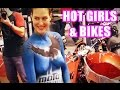Hot girls at Motodays bike show - Special Roma Custom Bike