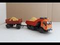 Модели строительной техники и грузовых автомобилей из пластилина