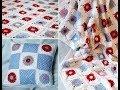Вяжeм квадратный мотив для пледа или подушки