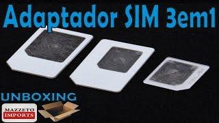 AliExpress Unboxing #139 - Adaptadores de SIM Card MAZZETO IMPORTS